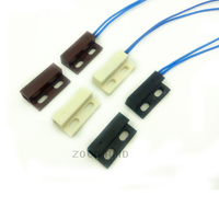 5pcs Lot AC85 220V N O Type Wired Door Window Magnetic Sensor Switch Work With PTSN