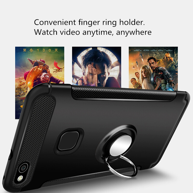 Olaf Untuk Huawei P10 Lite kasus Robot Armor Cincin Kickstand Karet - Aksesori dan suku cadang ponsel - Foto 4