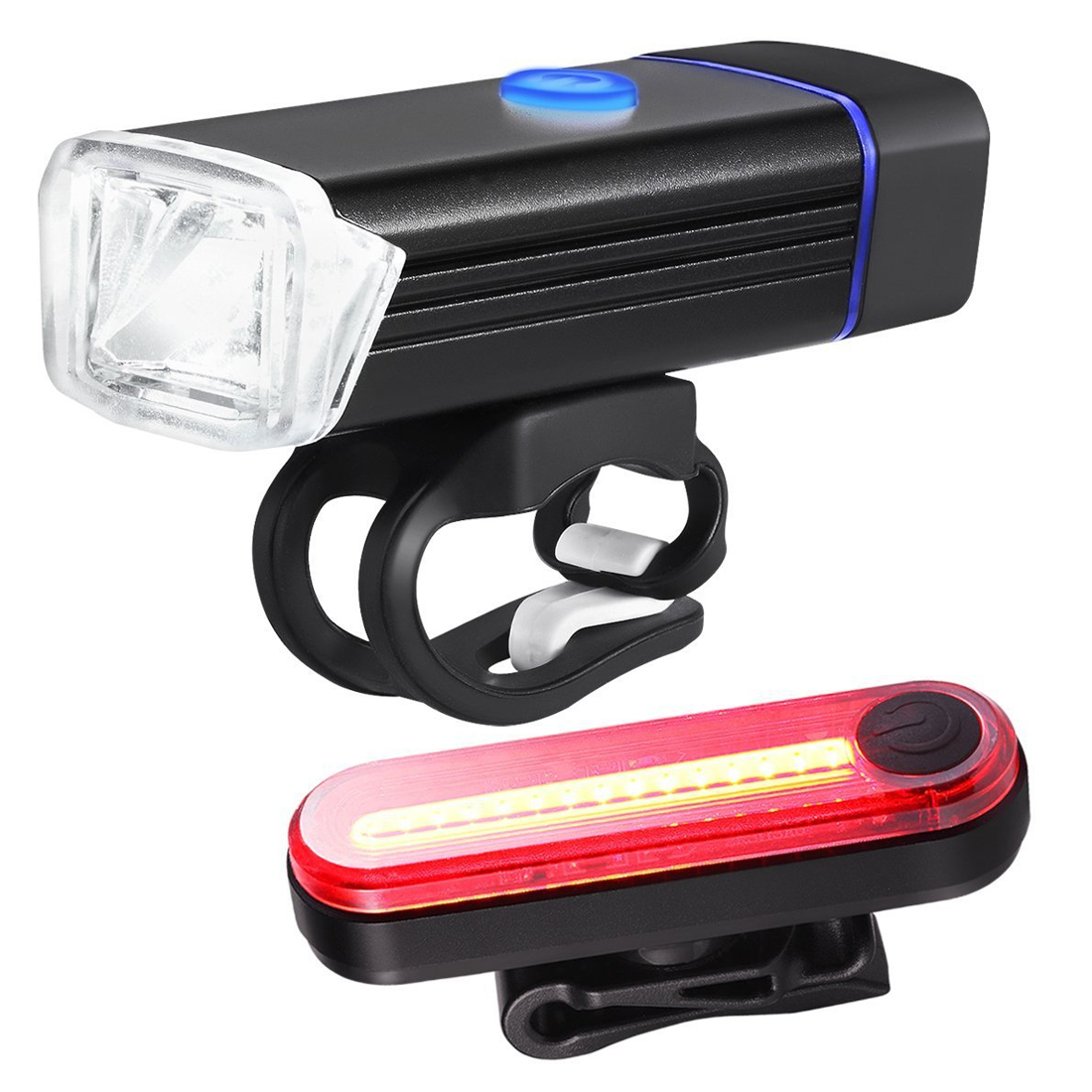 NEW Bicycle Lamp New Arrival Bike Torch USB Chargeable Led Front Light Tail Light Set Taillight Rear Light