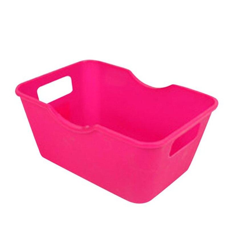 2017 hot sale candy color Plastic Office Desktop Storage Boxes Makeup Organizer Storage Box wholesale J10
