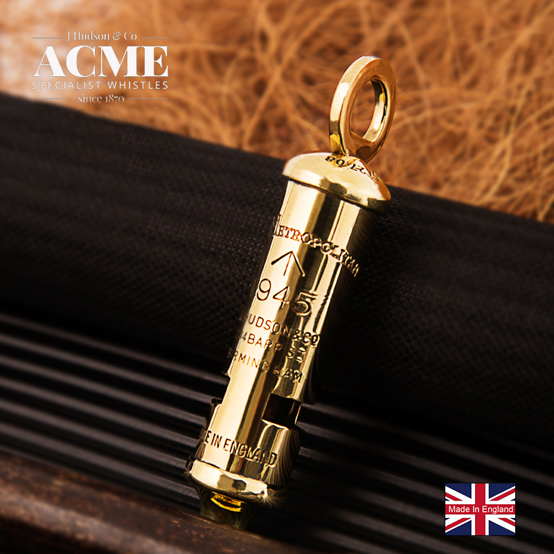 ACME1945 Limited Edition Metropolitan Police Whistle Metal Survival Whistle Pendant Souvenir Fashion Accessories