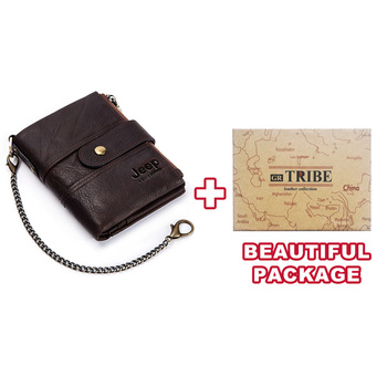 100% Genuine Leather Rfid Wallet Men Crazy Horse Wallets Coin Purse Short Male Money Bag Mini Walet High Quality Boys 7