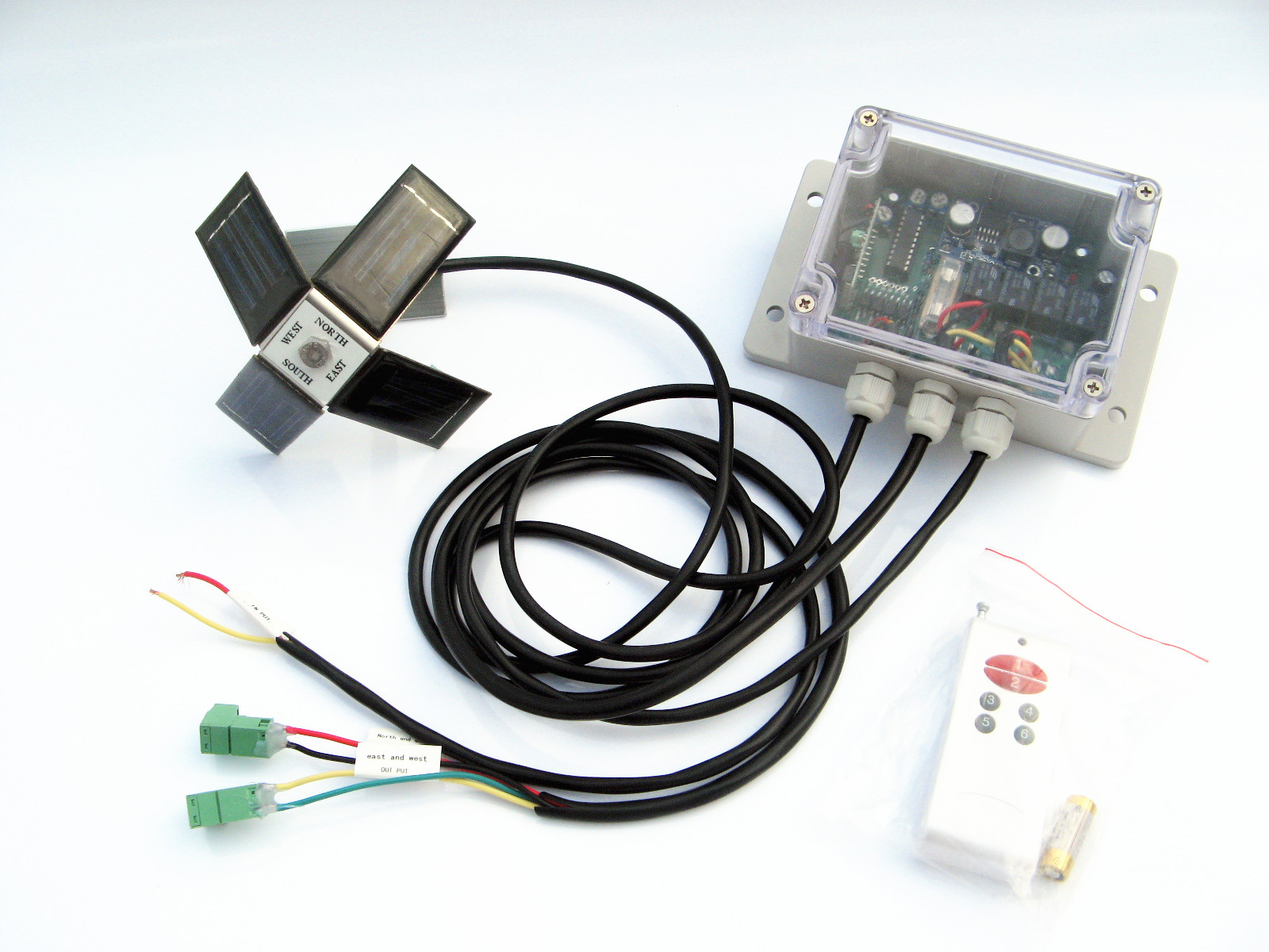DC power, solar controller for Dual Axis Solar Tracker Tracking system Linear actuator