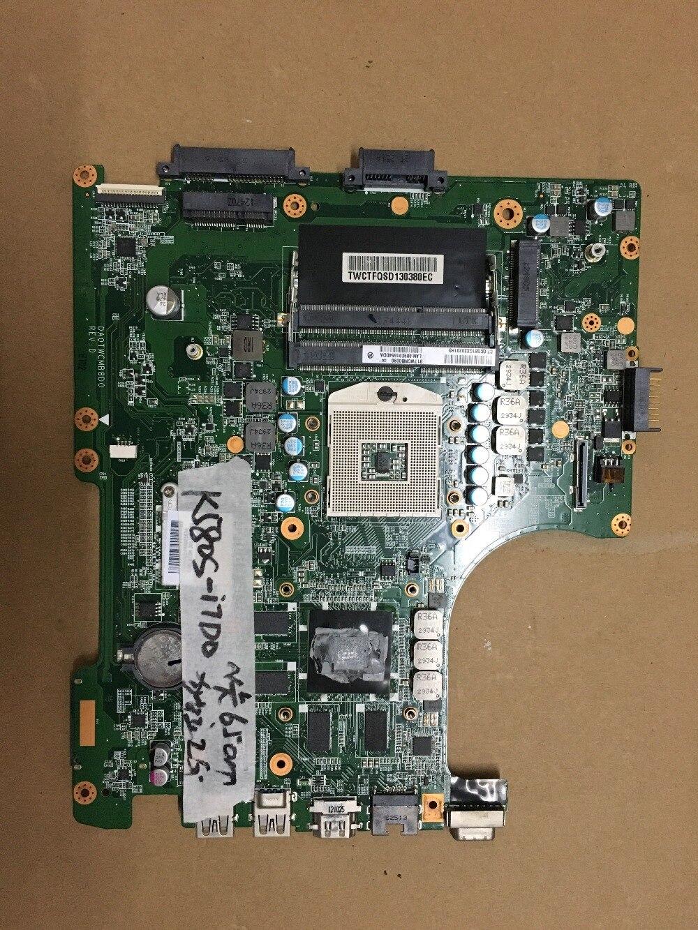 Original I5 I7 Motherboard For K580S  Mainboard DA0TWCMB8D0 GT640M  GT650M  fully tested Original I5 I7 Motherboard For K580S  Mainboard DA0TWCMB8D0 GT640M  GT650M  fully tested