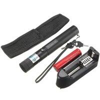 Wodoodporna 5 mw 405nm Niebieskie Światło Potężny Laser Pen Beam Laser Pointer Pen Light Latarka z Ładowarką Baterii 2x Kabury klucze