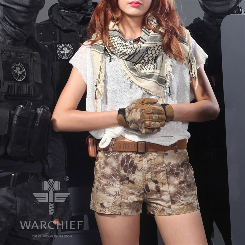 2016 Camouflage Woman hot shorts Highlander Rip-Stop BDU Woman Shorts Kyrptek camo patrol Shorts Women Tactical Shorts