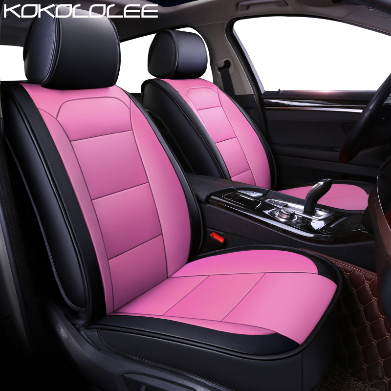 KOKOLOLEE pu leather car seat cover for BMW Honda Buick F Benz bmw Chevrolet Skoda Volvo MiNi Mazda car accessories auto styling ...