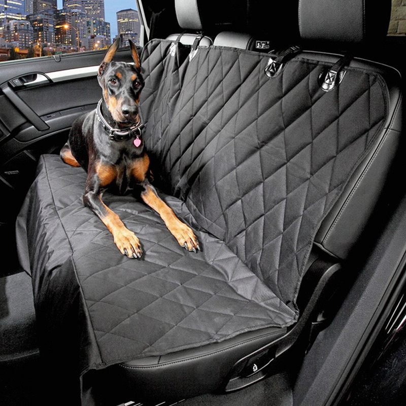 600D Oxford Pet Car Seat Covers Waterproof Back Bench Seat Car Interior Travel Accessories Car Seat