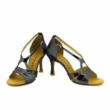 YOVE Dance Shoes Women's Latin/ Salsa Dance Shoes 3.5″ Flare High Heel More color w1610-4