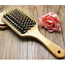 Деревянная расческа для ухода за волосами деревянная спа, массажная расческа деревянная лопатка с заостренной ручкой зубья щетка для волос Антистатическая Подушка Расческа инструменты