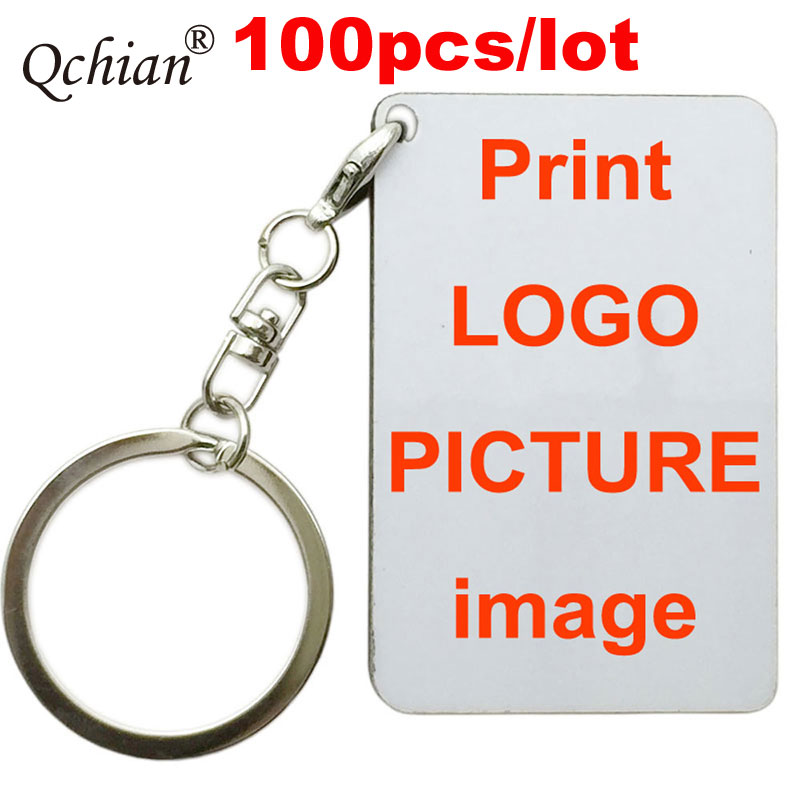 100pcs/lot Customized Printed keychain Text Picture Lover  Baby Photo Picture Logo Print On Key Chains 1-2 days Send Out