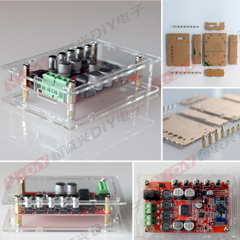 TDA7492P 4 Bluetooth 50W*2 audio output amplifier board receives the digital power amplifier board + acryliccaseor hot sale wireless bluetooth digital 2 1 channel amplifier board 50w 50w stereo output 100w bass output for rc parts