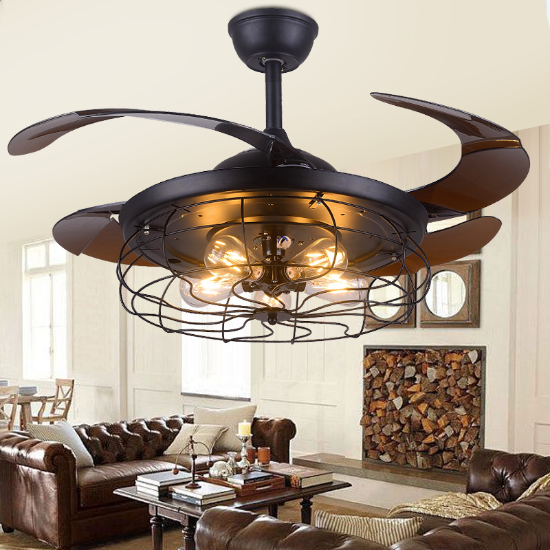 Vintage Ceiling Fan Light For Bedroom Kitchen Living Room