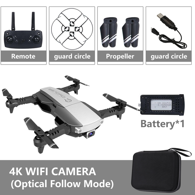 4K Drone 2 4G WiFi FPV Folding Quadcopter RC Dron Fixed Height Mode Optical Flow