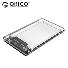 ORICO 2139U3 2.5″ HDD Enclosure Tool Free Hard Disk Drive Case Transparent 5 Gbps SATA3.0 to USB3.0 Support 2TB UASP Protocol