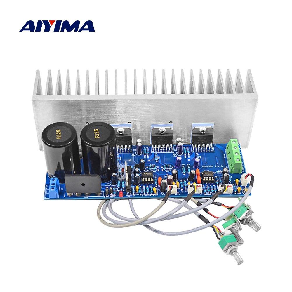 AIYIMA TDA7294 amplificateur de haut-parleur Subwoofer HiFi 2.1 amplificateur de son de puissance carte Audio Mini ampli 80Wx2 + 100W bricolage Home cinéma