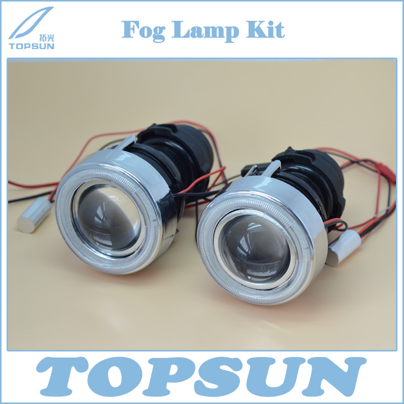 HID Xenon Fog Lamp Projector Lens Kit glass Lens with White Yellow Purple Green Red Blue COB Angel Eyes for Fog Light hid xenon fog lamp projector lens kit glass lens with white yellow purple green red blue cob angel eyes for fog light