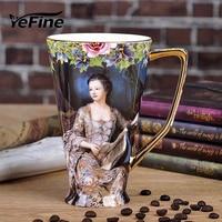 YeFine Bone China Coffee Mugs Large Capacity 575ml High grade Ceramic Tea Cups Drinking Cup Porcelain Advanced Gifts Drop Ship