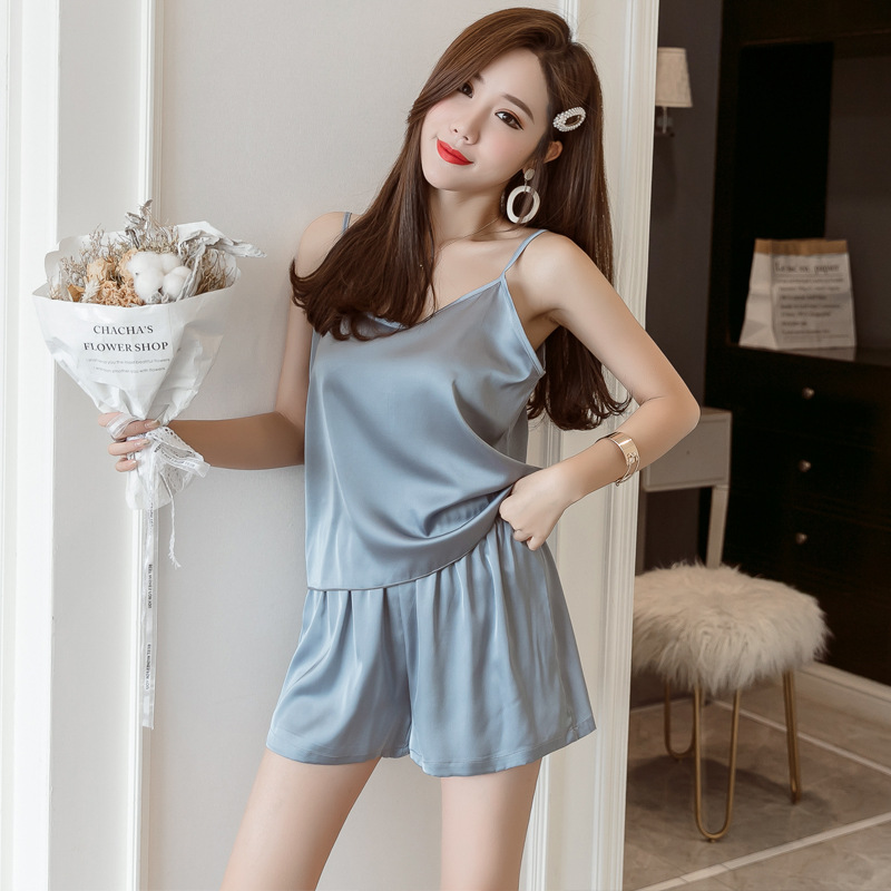 Plus Size 2xl-4xl Bust 94-116cm  Silk Pijama Women Women Sets Xxxl Pajama Sets Shorts 9961