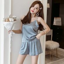 Plus Size 2xl-4xl Bust 94-116cm  Silk Pijama Women Sets Xxxl Pajama Shorts 9961