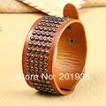 Free shipping New Fashion Leather bracelet,wrist belt,Alloy rivets,Casual&Punk style,Young men,Bracelets,3colors