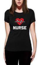 T Shirt Summer Cotton Comfort Soft O-Neck Short-Sleeve Nurse Life Line For Women