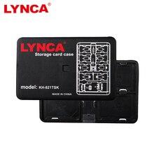 Caso Do Cartão De memória De Armazenamento Titular LYNCA Tamanho de Cartão de Banco Cartão de Memória de Transporte Titular Caixa de armazenamento para 4 Cartão de 8 TF SD SDHC SDXC 1 SIM