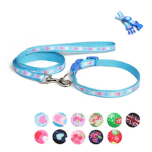 Lovely Printed Dog Collar for Small Dogs Strong Durable Nylon Leash Shih Tzu Fashion 11 Colors Pet Cat Supplies 10E