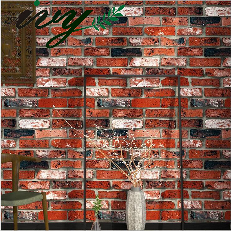 IVY MORDEN Vintage Brick Stone Photo Wallpaper 3D Large Murals Walls Non Woven Embossed Wall Papers Living Room TV Background non woven bubble butterfly wallpaper design modern pastoral flock 3d circle wall paper for living room background walls 10m roll