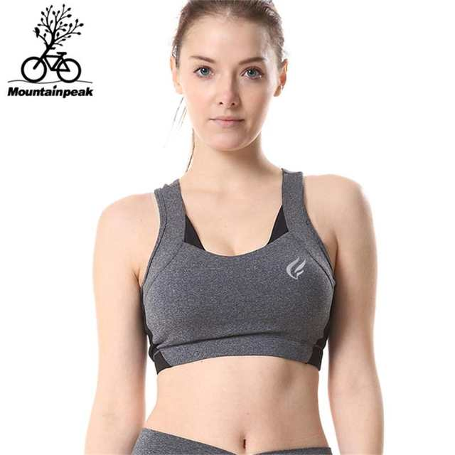 ad9b3f4deb Mountainpeak Women Sports Bra 5 Colours Yoga Underwear Vest Gym Fitness  Running Bra No Rims Full
