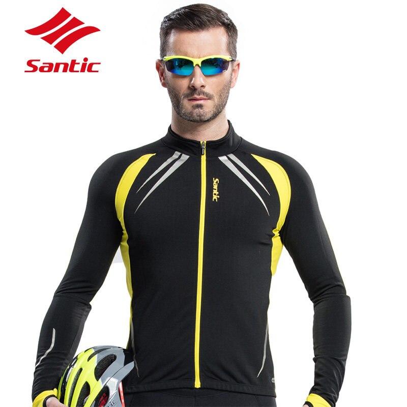 Цена за Santic Велоспорт Джерси Тепловая Флис Велоспорт Длинным Рукавом Велосипед Длинные Майки Цикл Велосипед Куртки Пальто 2 Цвет