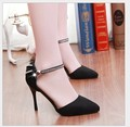 Womens Pumps Pointy Toe Ankle Strap Womens High Heels Stilettos Cocktail Party Ladies Summer Shoes Wholesales