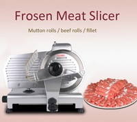12 Automatic Feeding Mutton Slicer Electric Meat Cutter Grinder Commercial Mongolian Style Beef Rolls Mincer Frozen