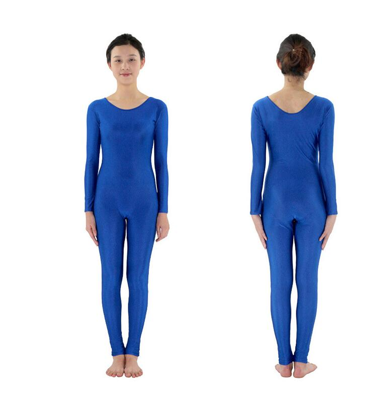 2019 Spandex Zentai Full Body Skin Tight Jumpsuit Unisex Zentai Suit Bodysuit Costume for Women Unitard Lycra Dancewear