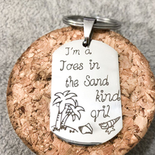 Summer Fashion Women Men Keychains Engraved Im a Joes In The Sand Kind Girl Key Holders Gift For VIP