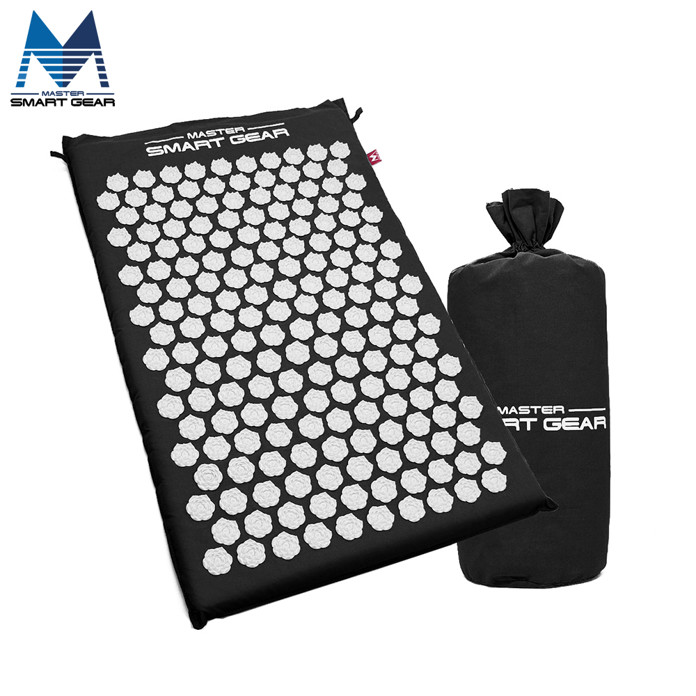 64cm*42cm Yoga Mat Lotus Acupressure Mat Relieves Stress Pain Acupuncture Spike Massage Cushion for Body Back Neck Head Foot acupressure yoga body massage mat