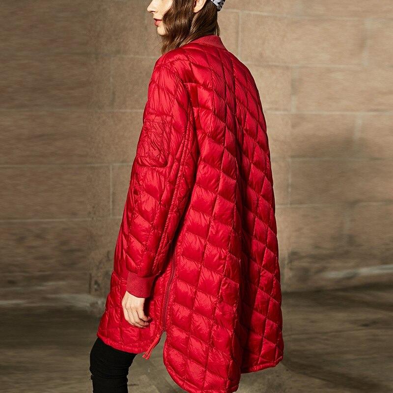 Veste Hiver Nouveaux De Lâche Bas À Le red 2018 Lc414 Mode Taille Tempérament Solide Black Grande La Chaud Manteau 90 Rue Femmes Vers Épais Longues 74wwq5CnOx
