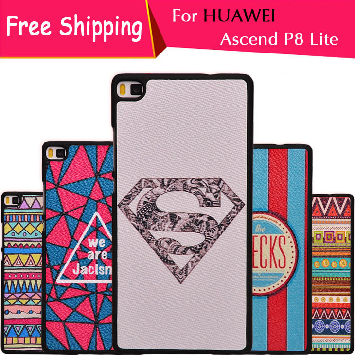 Huawei Ascend P8 Lite Case Cover 3D Embossed Painting Phone Fundas Cute Housing - ONENINE Store store