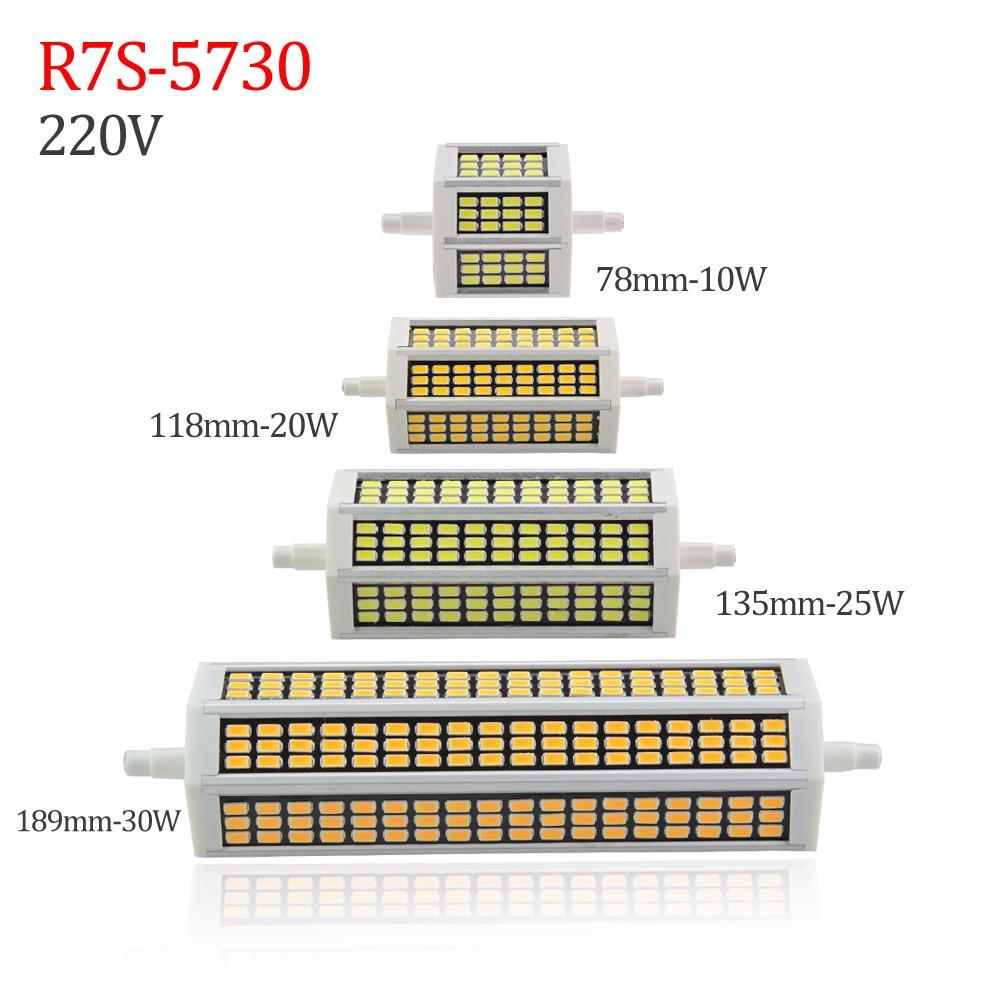new smd 5730 r7s led lamp 200v 220v 230v 240v r7s lampada light led bulb 78mm 118mm 135mm 189mm. Black Bedroom Furniture Sets. Home Design Ideas