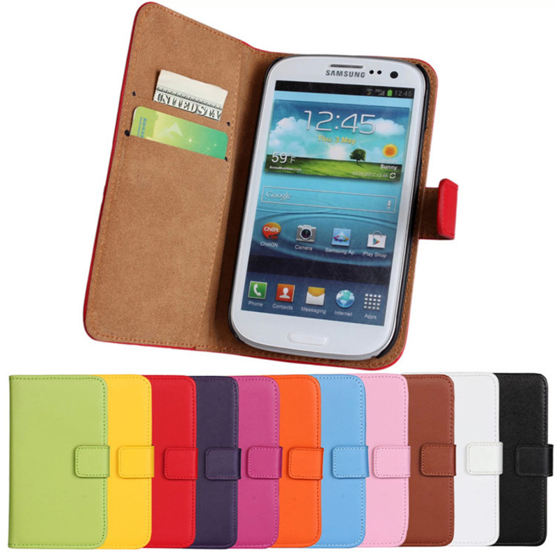 buy online 5b800 c596a US $3.73 15% OFF|Luxury S3 Neo i9301 Genuine Leather Wallet Case For  Samsung Galaxy S3 Duos I9300i i9300 Cover with Stand -in Wallet Cases from  ...