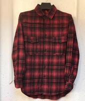 19ss Off white letter red plaid striped arrow in длинная Мужская и женская рубашка куртка
