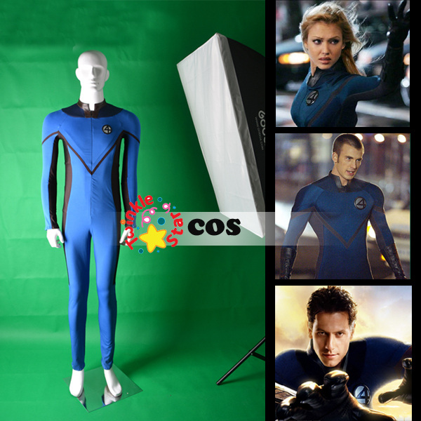 fantastic four costumes for adults stretchy material jumpsuit fantastic four halloween costumes