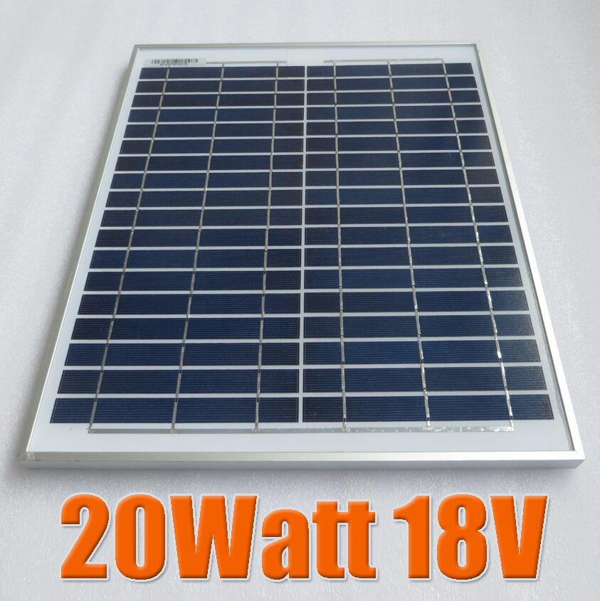 20W 18V Solar Panel Module Charger for 12V Battery DIY Motorhome Car Camp