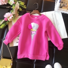2017 new winter Girls Kids boys velvet sweater T-shirt comfortable cute baby Clothes Children Clothing