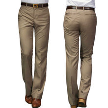 2019 New Modis Flared pants Male Summer Straight Suit British leisure Free hot feet trousers Formal For Men
