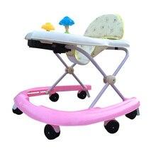 Baby Walker U-type Design Baby Walker Seat Security Anti-Rollover Walker Wheels Foldable Toddler Walking Learning Feeding Seat