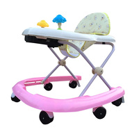Hot Sale Baby Walker Security Anti Rollover Foldable Toddler Walking Learning Aid U Type Design Baby