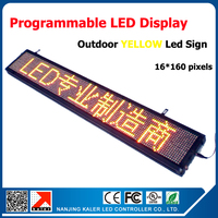 66''x 9'' outdoor moving letters led sign p10 yellow outdoor led message and scrolling led sign led display board