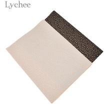 Lychee жизнь 21x29 см A4 тиснением ПВХ кожа ткань высокое качество шаблон Синтетическая Кожа DIY Материал для Сумки из натуральной кожи одежды