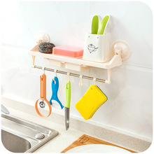 Strong double sucker racks with drawers, kitchen bathroom hook pallet storage rack Multifunctional